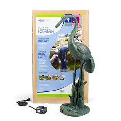 Aquascape Crane with Lowered Head Fountain w/pump