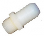 White Hose Straight Adapter