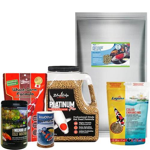 Fish Food for Ponds, Koi, Goldfish, Floating, Sinking, Medicated