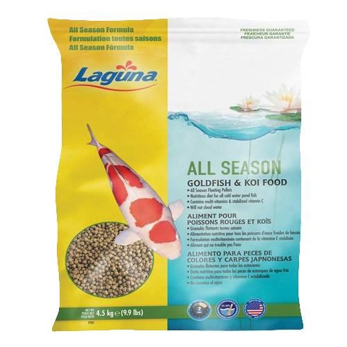 Laguna all season goldfish koi floating food 9 9 lbs for Best koi food