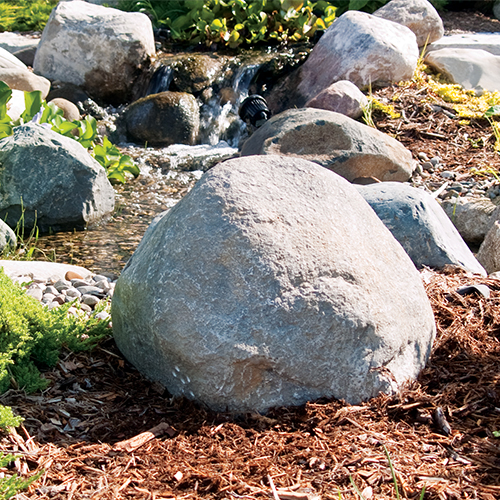 Pond Logic Grey Small Boulder w/ Vent Holes (MPN 510330-G)