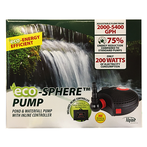 Alpine Eco-Sphere Pump with Controller 5400 GPH (MPN PUR5400C)
