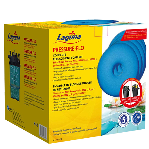 Laguna Replacement Foam for Pressure Flo 3200 & 4000 (Pack of 5) (MPN PT1738)