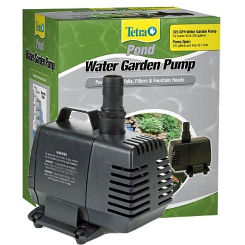 Tetra water garden pump 325 gph best prices on for Best pond pump for small pond
