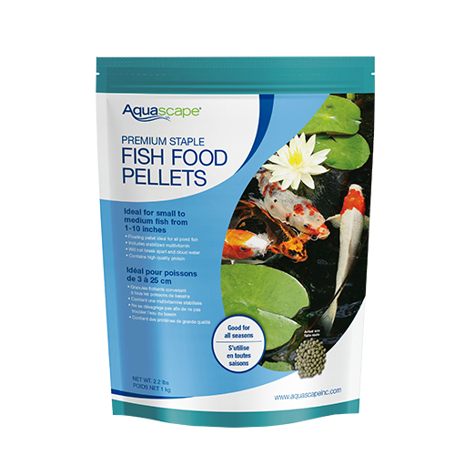 Aquascape premium staple pond fish food pellets 4 4 lb for Fish food pellets