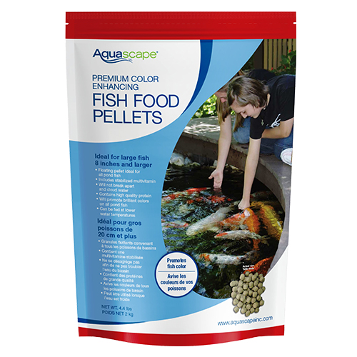 Aquascape premium color enhancing fish food pellets 4 4 lb for Fish food pellets