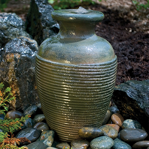 Aquascape Green Slate Amphora Vase Fountain (MPN 98922)