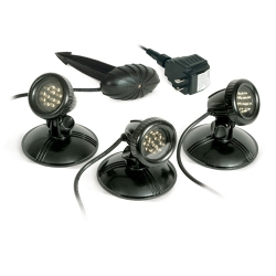 Atlantic AWGLED3,SOL Warm White 3 Pack LED Pond Lights with transformer