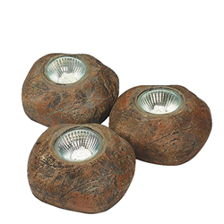 Pond Boss Stone LED lights, Three 10w equivalent