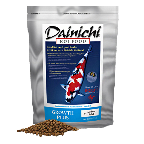 01723 - Dainichi Growth Plus Koi Food, Medium Pellet 11 lbs