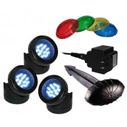 Alpine Luminosity LED 3 Pack Light with Photocell & Transformer