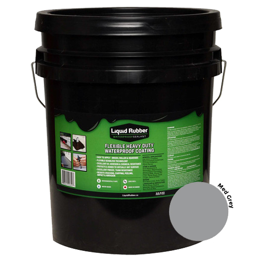 Liquid Rubber Waterproof Sealant Medium Grey 5 gal