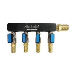 """Matala 4 Way Heavy Duty Manifold 5/8"""" (MPN CC4-58)"""