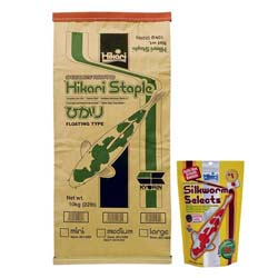 Hikari Staple Medium Pellets 22 lbs with free Silkworm Selects