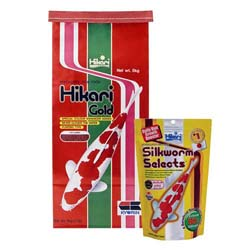 Hikari Gold Mini Pellets 11 lbs with free Silkworm Select