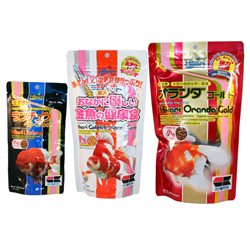 Hikari Goldfish Mini Pellet Pack (Oranda 10.5oz + Lionhead 3.5oz + Wheat Germ 7oz)